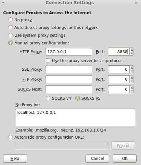 Firefox Proxy Settings