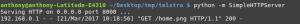 Start the Python Simplehttpserver module